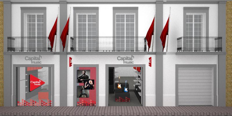 Fachada tienda capital music- madero 225