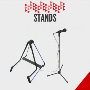 Stands para microfono y guitarra