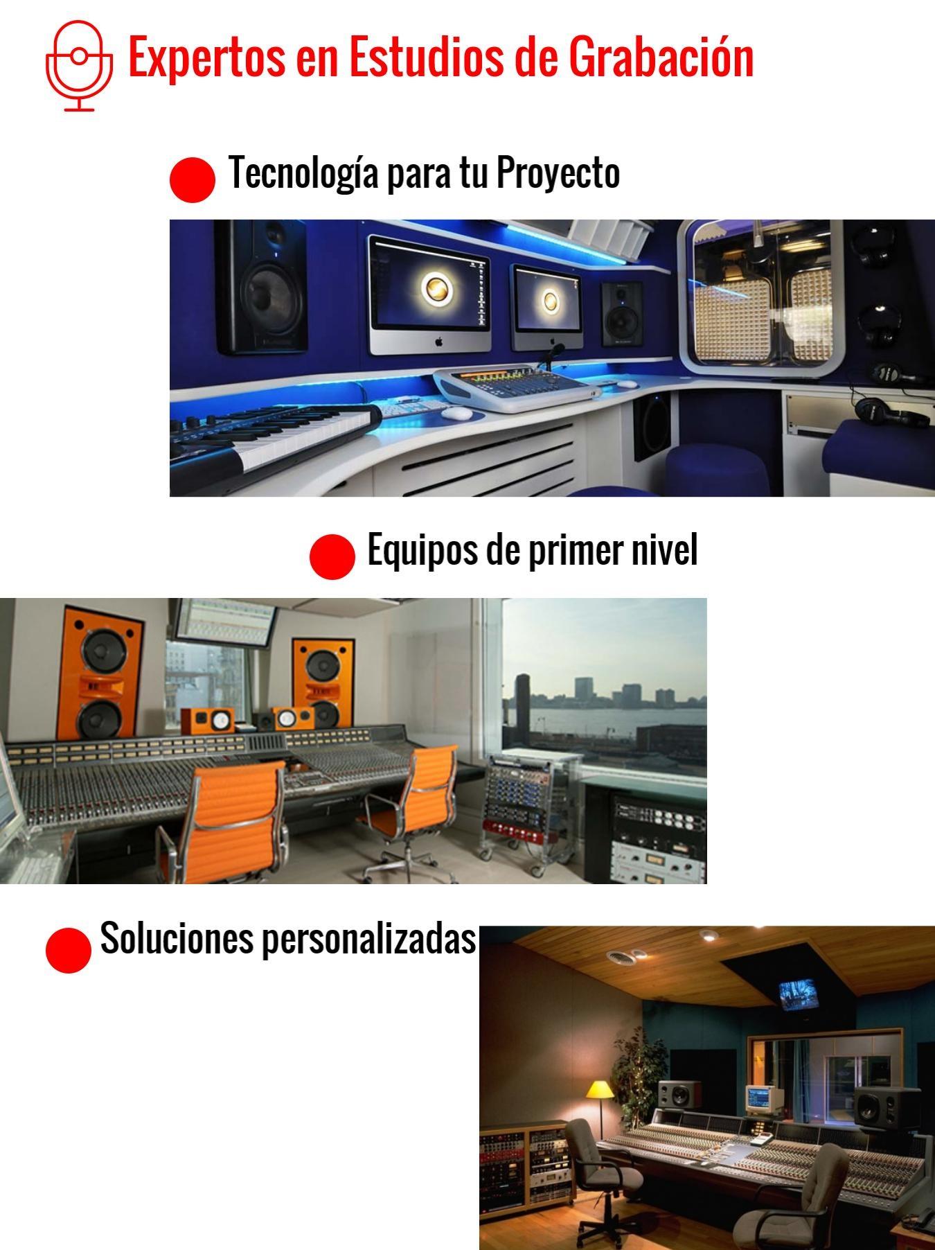 Diseñadores de Estudios de Grabación en México- Capital Music