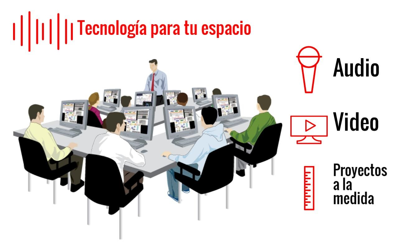 Proyectos de audio y video- para escuelas y oficinas